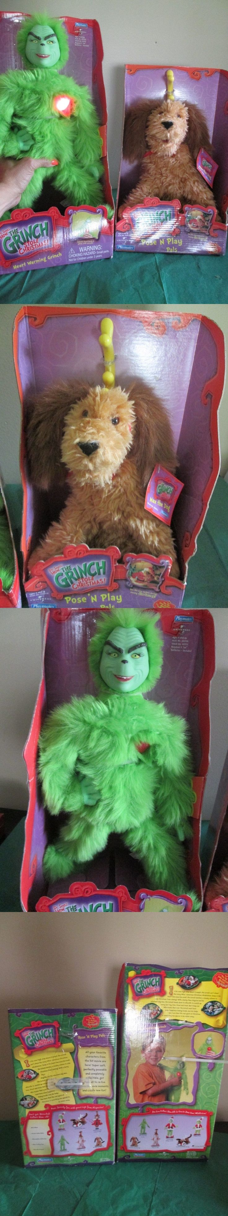 Dr Seuss 20906: Nib How The Grinch Stole Christmas Heart Warming Grinch And Max The Dog Poseandplay -> BUY IT NOW ONLY: $64.95 on eBay!