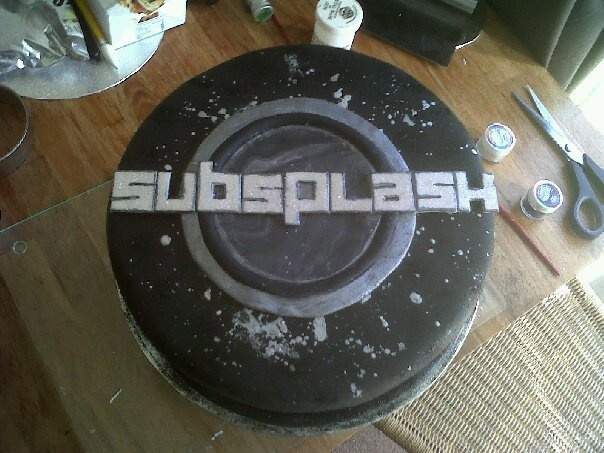 This was a cake I made for a Brighton event company called Subsplash, to celebrate their 1st birthday.