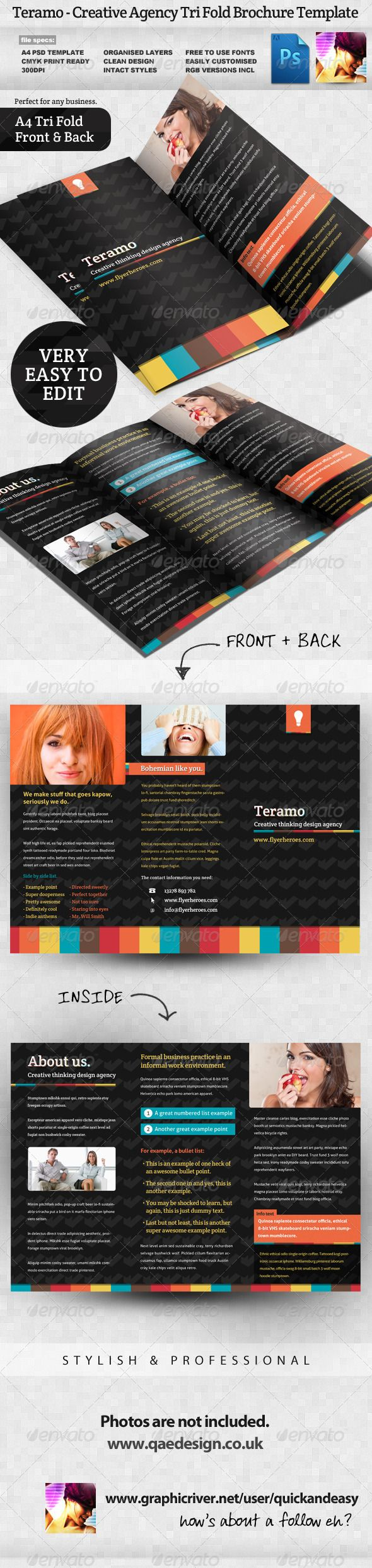 The 25 best Tri fold brochure template ideas on Pinterest Tri