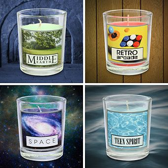 Smells Like Teen Sprit.. Candles that smell like Middle Earth, Space etc
