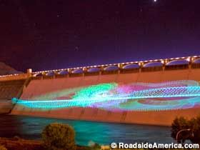 Grand Coulee Dam Laser Light Show, Coulee Dam,  Washington