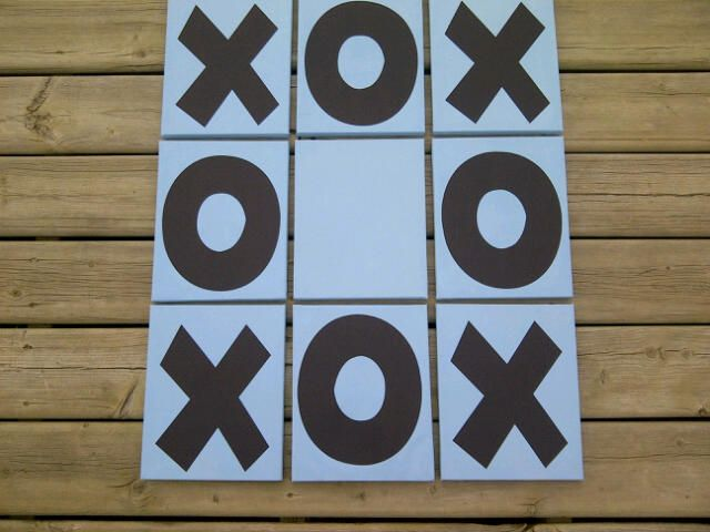 Cute decoration for any little boys room. His name would be added to the centre canvas. x's & o's to always remind him, he is loved. Find my facebook page at 'Nick Knack of Medicine Hat' to see many great items