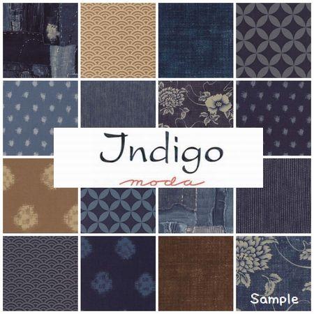 moda チャームパック Indigo (インディゴ) - パッチワークキルトと生地、キット、副資材のお店 Quilt furniture Qufu