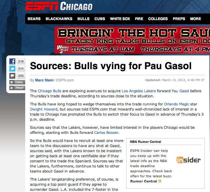Bulls Rumors: Pau Gasol enters picture once again