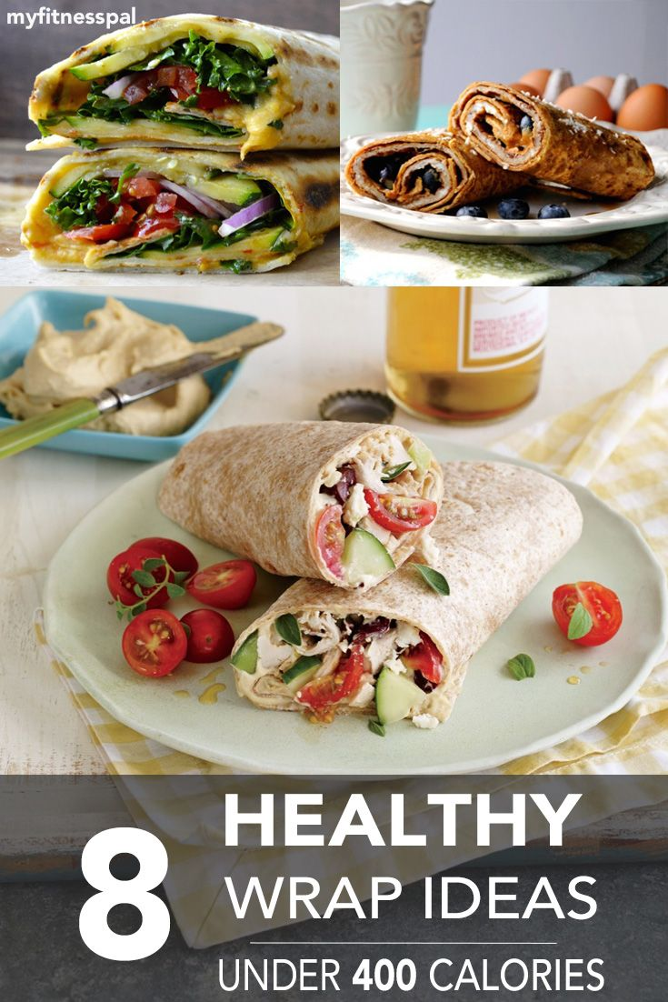 For a no-fuss healthy lunch, try one of these 8 wraps--all under 400 calories! #myfitnesspal