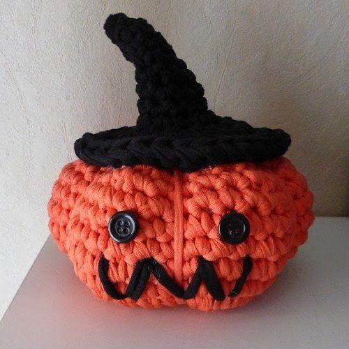 Patron Calabaza de Halloween Amigurumis Pinterest ...
