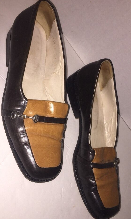 Joan & David Vintage Womens Italian Loafers Flats Sz 7.5M Brown Tones  | eBay