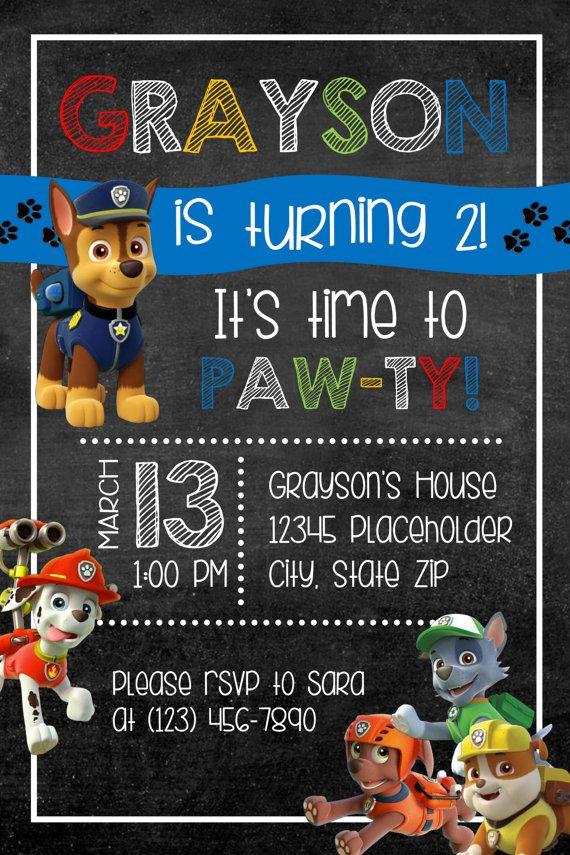 Meer dan 1000 ideeën over Paw Patrol Invitations op Pinterest - Puppyfeestje