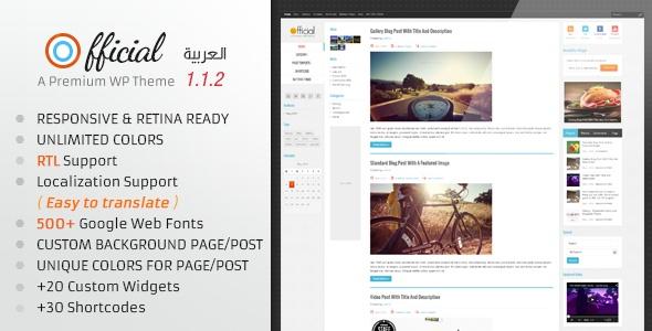 Official Retina Responsive WordPress Blog Theme - Personal Blog / Magazine  #wordpress #theme #website #template #responsive #design #webdesign #flat #flatdesign #blog #magazine