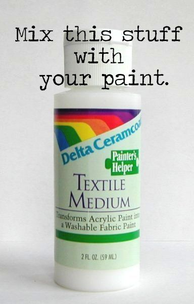 How To {Unprofessionally} Paint Fabric And Re-upholster Chairs. Mix with wall paint and then use to stamp on a design---the fabric will be washable! Meaning the design won't wash off.
