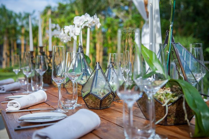 Table with Orchids