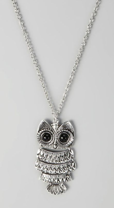 84 mejores imgenes de owl pendant necklace en pinterest bho silver owl hinged pendant necklace aloadofball Image collections