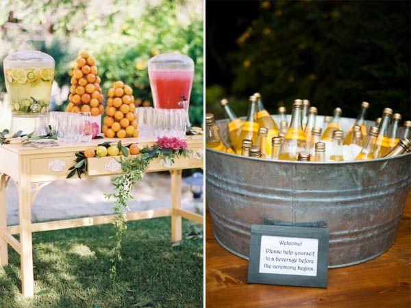 rinfresco precerimonia. http://weddingwonderland.it/2013/05/sette-idee-uniche-per-un-matrimonio-indimenticabile.html