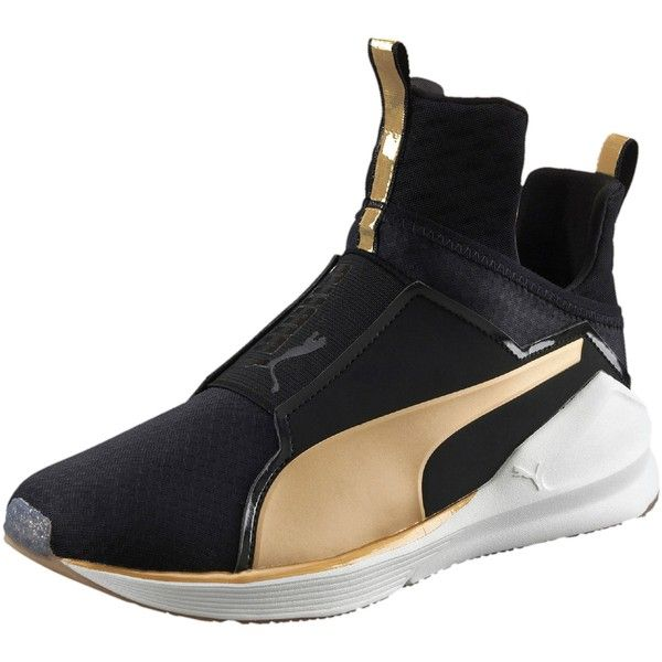 Puma Fierce Gold Women's Training Shoes ($100) ❤ liked on Polyvore featuring shoes, athletic shoes, caged shoes, pointed shoes, pointy shoes, sports shoes and breathable shoes