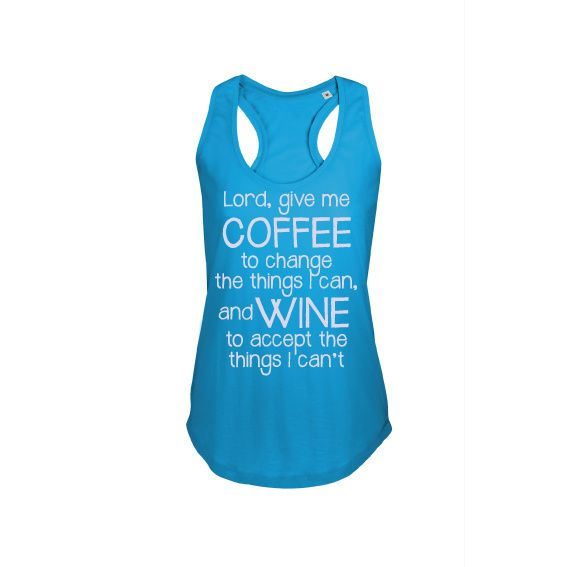 Dames | tanktop Wine and coffee (800579)