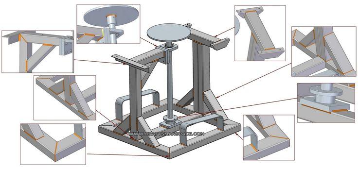 Potter's wheel plan - Welding   Torno   Pinterest   Projetos