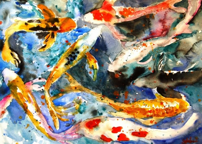 Butterfly Koi Abstract...