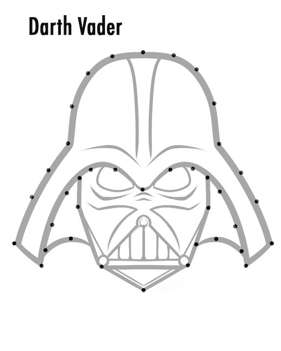Darth Tempplate for Star Wars String Art from One Project Closer