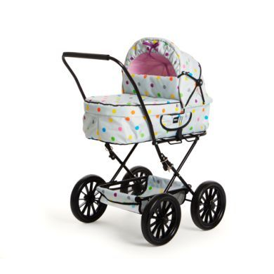 BRIO Wózek dla lalek Klassik szary w kropki