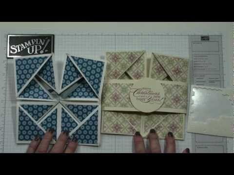 Awesome idea !!! ▶ Napkin Fold card with Dawn - YouTube