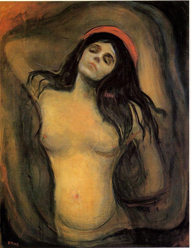 Edvard Munch, Madonna, 1894-1895. Olio su tela, 91×70,5 cm. Munch Museum, Oslo