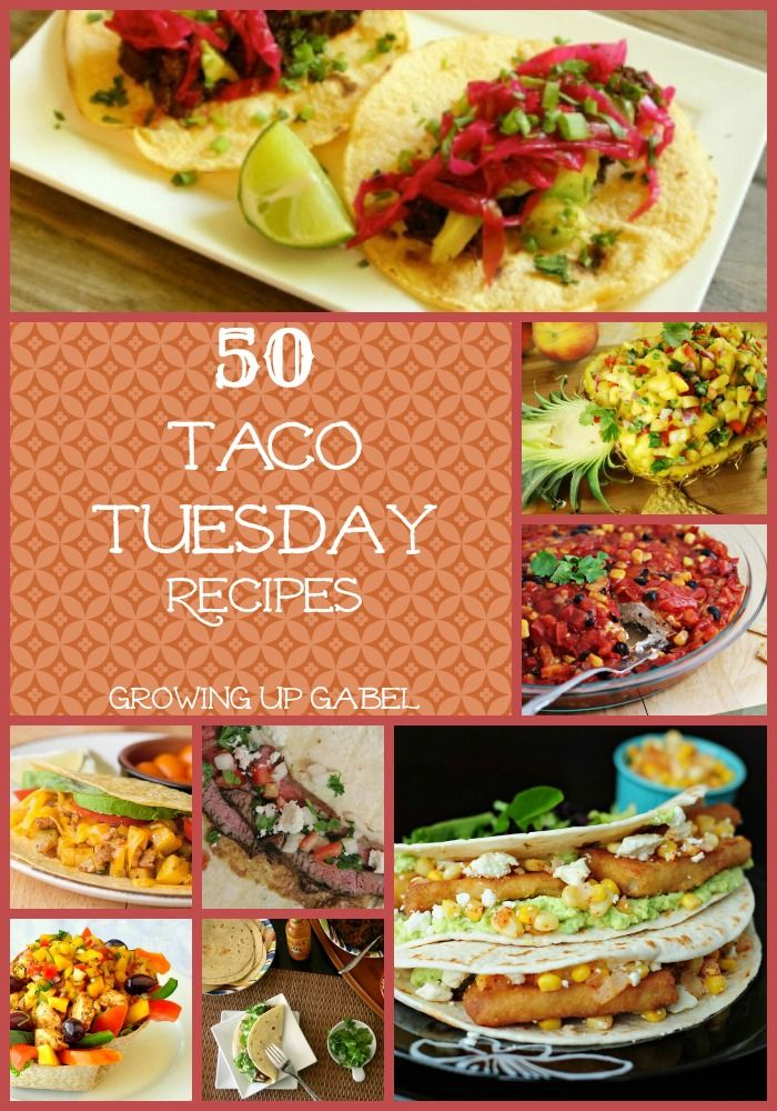 Love Taco Tuesday, but need some new taco recipes? Check out these 50 taco recipes for some dinner recipe inspiration!