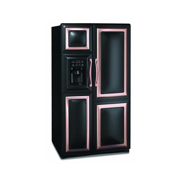 Black Refrigerator With Copper Trim Copper Kitchen