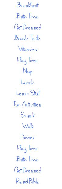 Daily Schedule for Kids and Toddlers (with printable to-do list)
