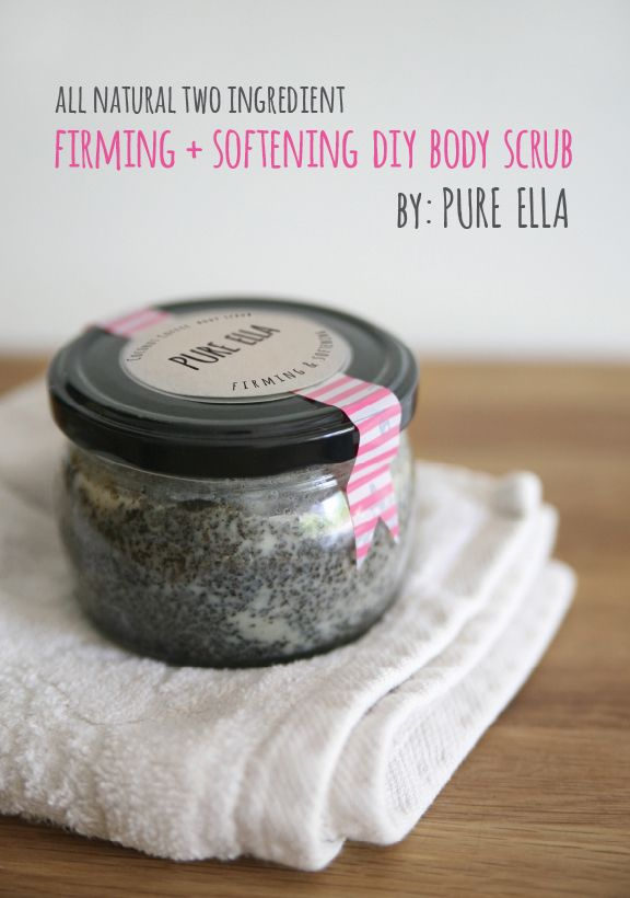 Firming and softening body scrub