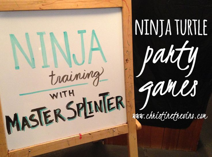 Ninja Turtle Party Games