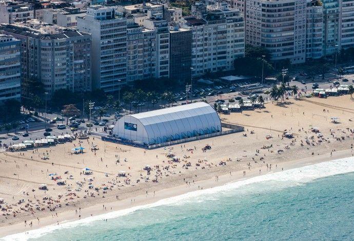 Rio 2016 arena vôlei de praia Copacabana (Foto: André Motta/brasil2016.gov.br)