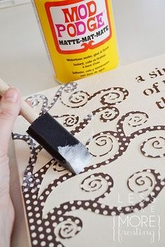 Freezer paper+canvas+Mod podge | best stuff