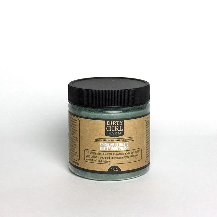 Our favorite superfood product is the Spirulina Ultimate Body Polish. Spirulina is a misunderstood ingredient, but one that has numerous health benefits! This blue-green algae is a freshwater plant grown around the world, and it has been touted as the new superfood for health.