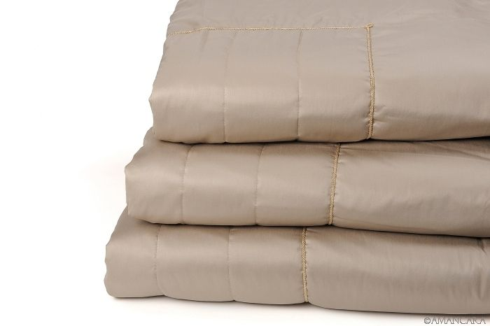 Pure Egyptian cotton sateen quilt set