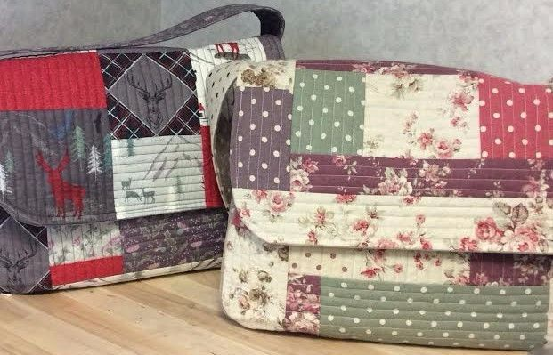 The Juberry Messenger Bag Workshop.    This is a 1-1/2 day workshop running from 10am -4pm on Monday 15th May and finishing on Wednesday 24th May 1.30pm - 4pm.