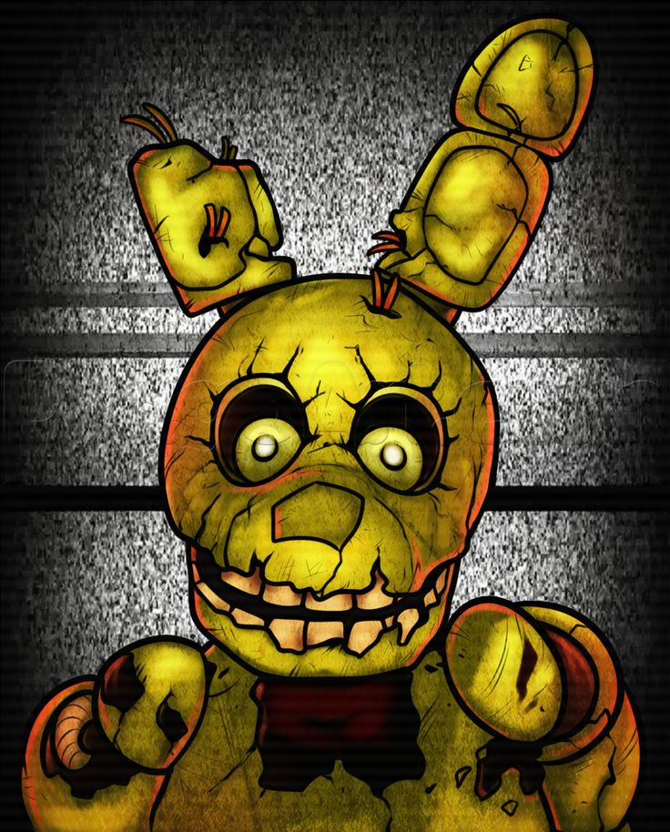 How To Draw Springtrap From Five Nights At Freddys 3