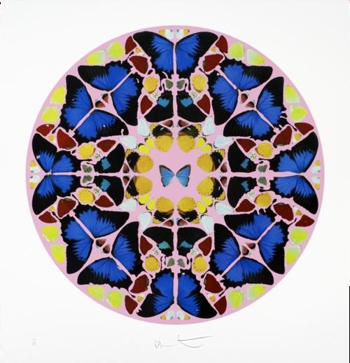 Damien Hirst Coeli enarrant 2009 #BID #beforeidieUA #BIDTucson butterflies seen as part of divine creation, paralleled to a form of spirituality.