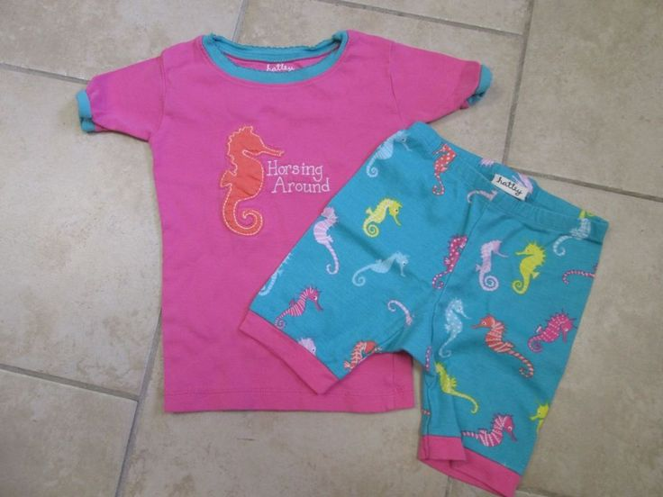 Hatley Boutique Girls Horsing Around 2 pc pajamas Sz 4 #Hatley #PajamaSet