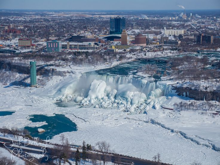 Niagara Falls Usa Frozen Solid Gorgeous Panoramic View From The Presidential Suite In Hilton Hotel Canada Joshbellinghamphotog