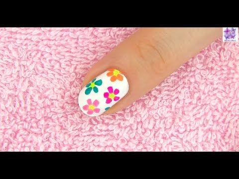 Tırnak Boyama sanatı - Çiçek deseni - Nail art   flower design