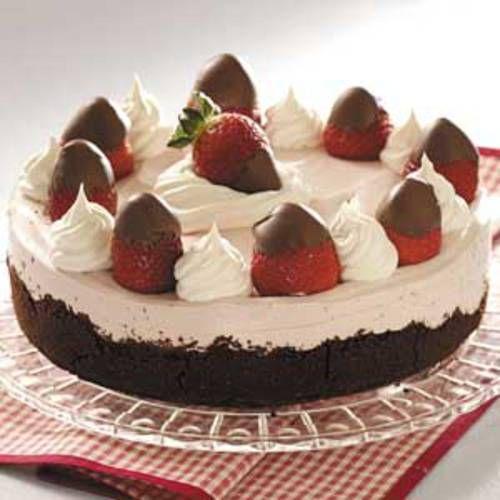 Chocolate Strawberry Cheesecake Recipe — Dishmaps