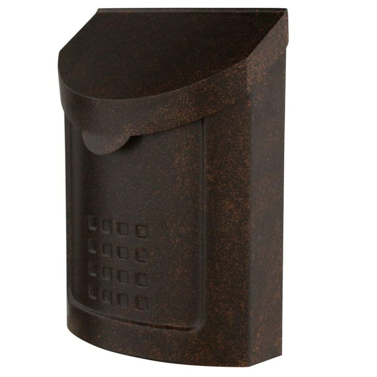 Gibraltar Mailboxes Lockhart Locking Steel Vertical Wall-Mount Mailbox, Aged Copper-MBK694AC - The Home Depot