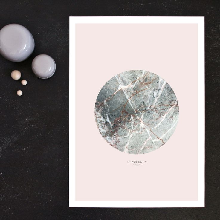 MARBLEOUS poster in pale pink. Size 50x70 cm