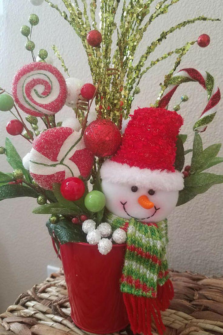 $25.99 Christmas Home Decor, Christmas Centerpiece, Tabletop Decor, Floral Arrangements #oybpinners #affiliate
