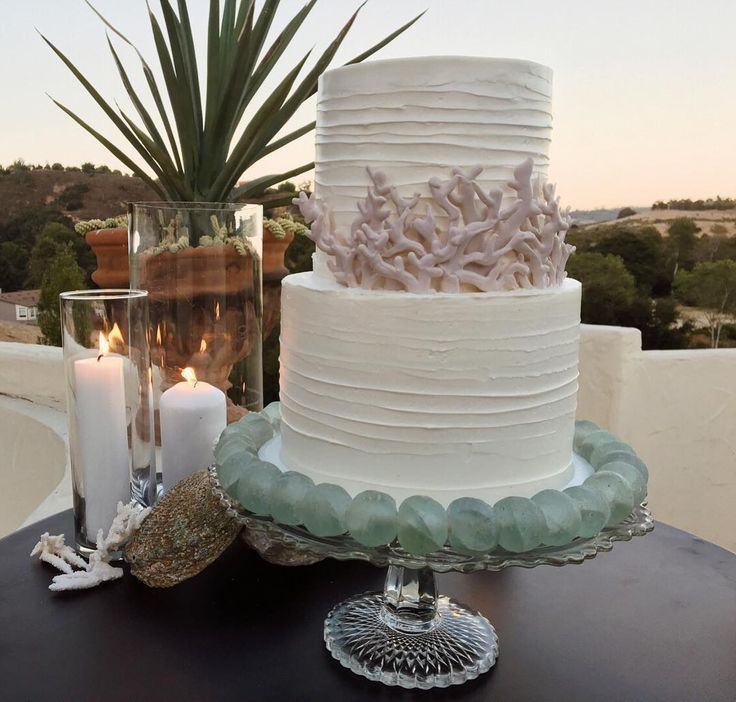 Imported from far away beaches and now available for rent, authentic strands of sea glass beads  Design by @crosbyandjon ~ Two tiered beauty by @papercakeevents