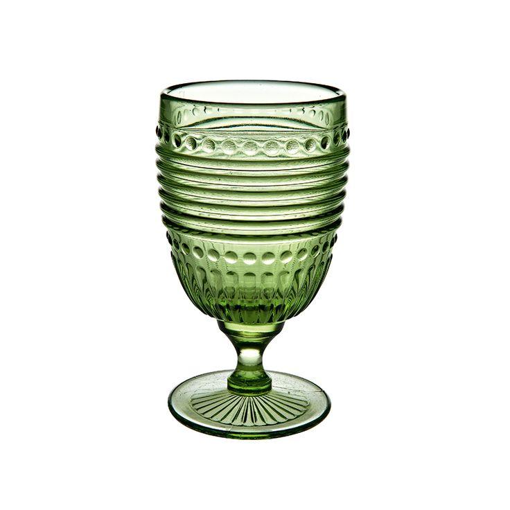 Sale: Campania ~ Goblet Emerald, Price $22.00 in New York, NY from Vista Alegre