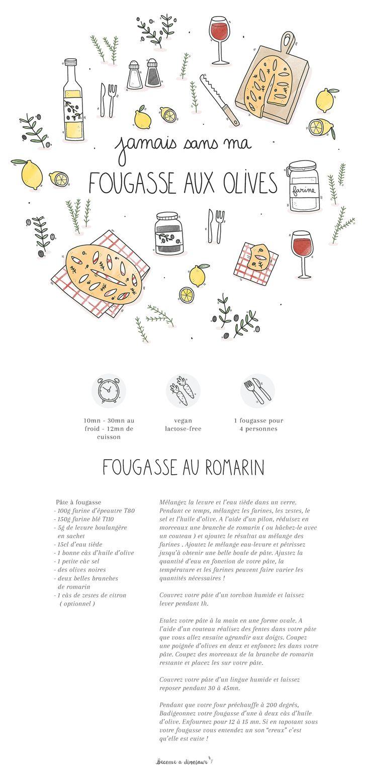 fougasse romarin olives by becomeadinosaur