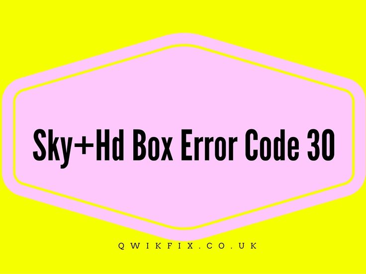 If you are getting error code 30 on your Sky Tv, HD box or sky plus, then try out the following methods to fix sky tv box technical fault 30 - METHOD 1: