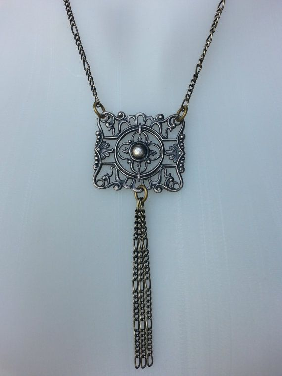 Hey, I found this really awesome Etsy listing at https://www.etsy.com/listing/190839121/chain-necklace-antiqued-brass-chain-with