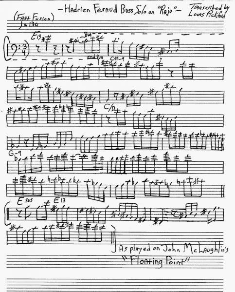 Lucas Pickford - Transcription - Hadrien Feraud - Bass Solo on